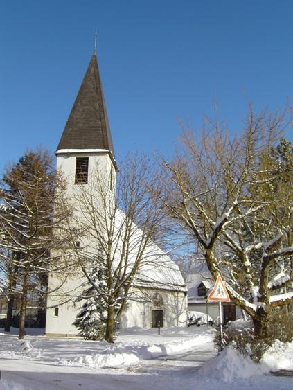 Kreuzkirche im Winter